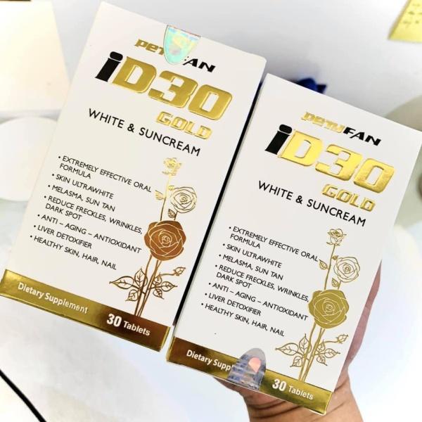 VIÊN UỐNG TRẮNG DA CHỐNG NẮNG  ID30 GOLD - PETYFAN