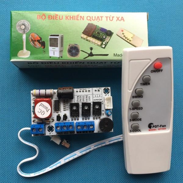 Bộ mạch và điều khiển quạt phun sương, quạt điều hòa 220v 300W - QT 322,điều khiển quạt hơi nước ,quạt điều khiển từ xa