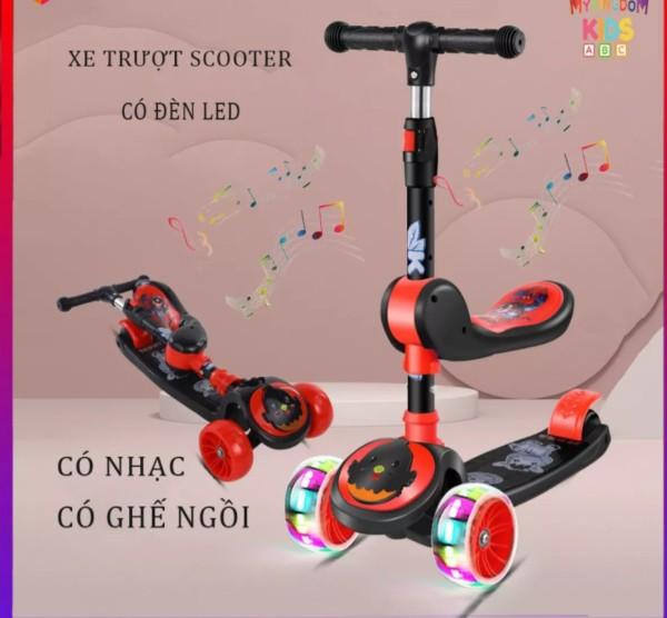 Mua XE TRƯỢT CHO BÉ + CHÒI CHÂN COMBO 2IN1 - LOẠI CAO CẤP SIÊU TRẮC CHẮN - e  scooter - xe trượt  scooter - đồ chơi  trẻ em