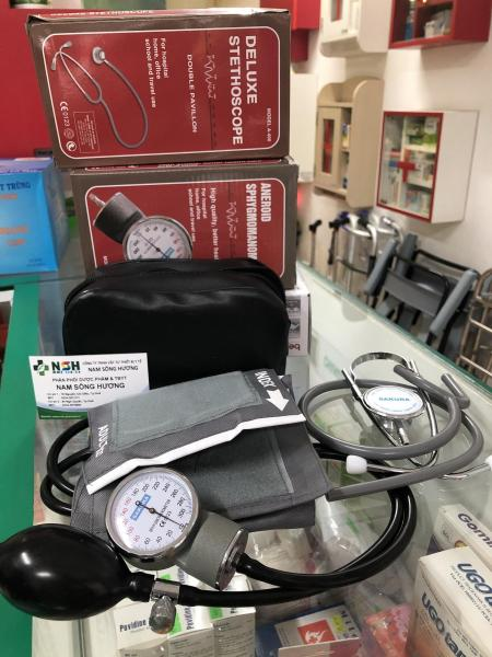 Nơi bán Máy đo huyết áp cơ đồng hồ SAKURA Nhật Bản kèm tai nghe y tế hai mặt