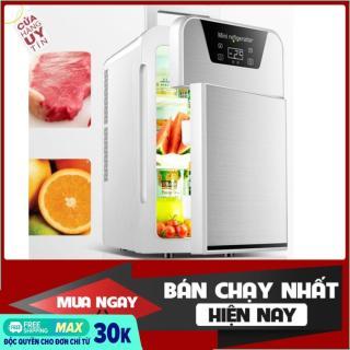 [ BÁN CHẠY] Tủ lạnh 20L- Tủ lạnh mini- Tủ lạnh 20L hiển thị nhiệt độ, 2 ngăn- Tủ lạnh 2 ngăn- 2 chiều nóng lạnh, nguồn vào 12v 220v- Tủ lạnh mini cho xe hơi và gia đình thumbnail
