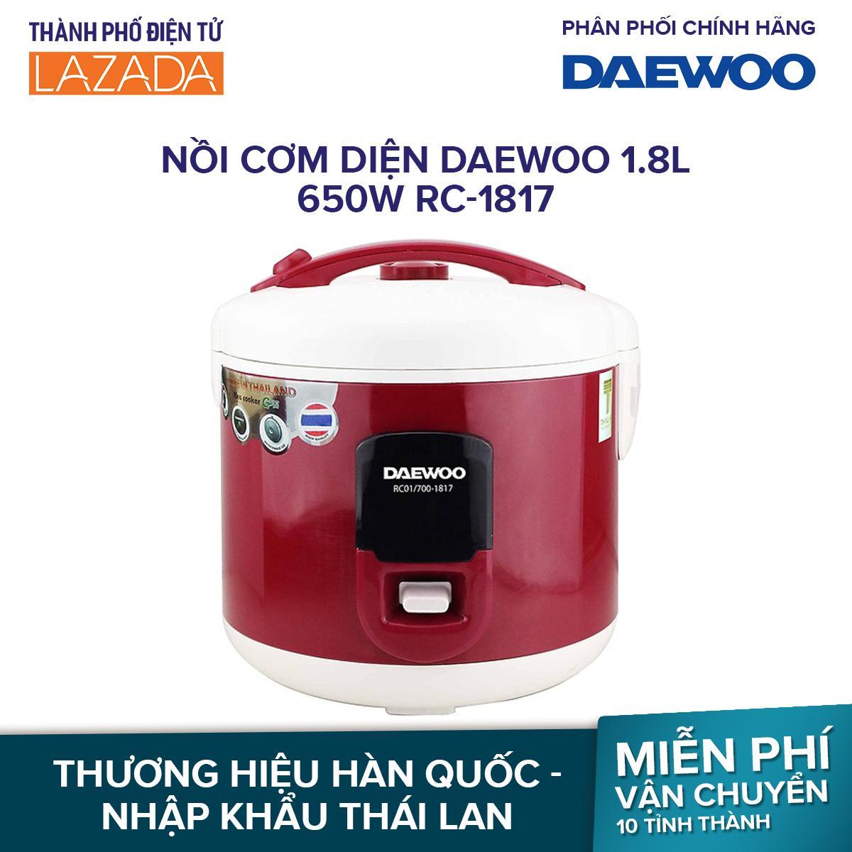 Nồi cơm diện Daewoo 1.8L 650W RC-1817