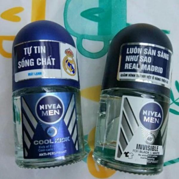 Combo 2 chai Lăn Khử Mùi Nivea Men 12ml cao cấp