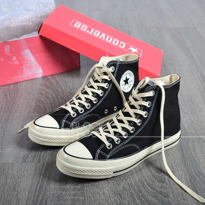Giày thể thao Nam nữ Converse  1970s BLACK HIGH - version 2018 (Converse 1970s đen Cao cổ )