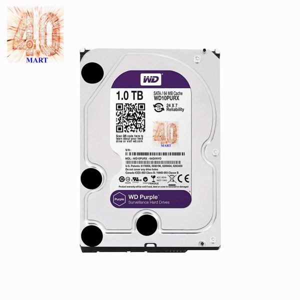 Giá Ổ cứng Camera HDD 1TB Western Digital Tím Chính Hãng - BH 2 năm - 1 đổi 1