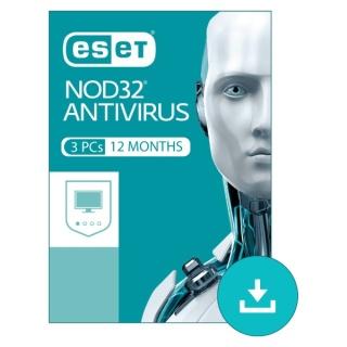 ESET NOD32 Antivirus 3 PCs 12 Months Subscription Windows thumbnail