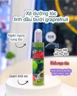Xịt dưỡng tóc Grapefruit chăm sóc tóc chuyên sâu -[NÔNG TRẠI CẦU ĐẤT] thumbnail