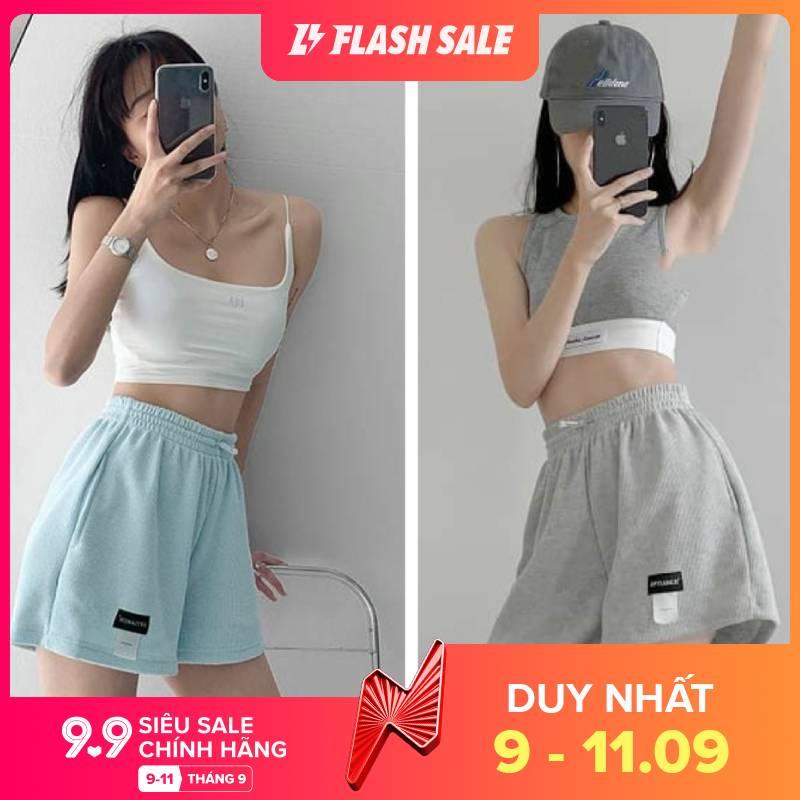 Quần đùi nữ mặc nhà ITEM quần short ngắn cạp chun chất Umi Ulzzang - VIETCENVN