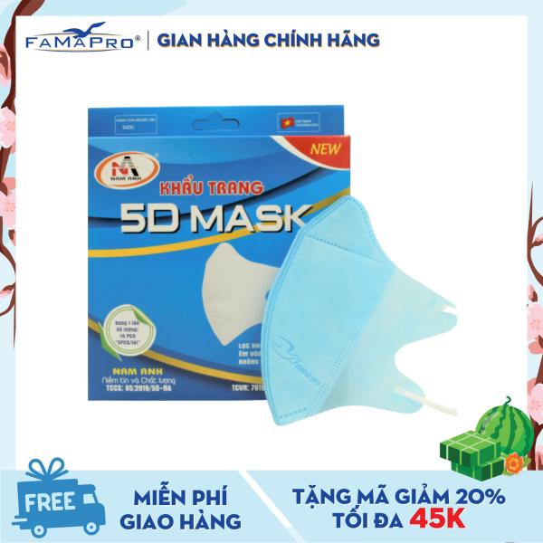 Khẩu trang y tế 3 lớp Famapro 5D Mask (10 cái / Hộp)