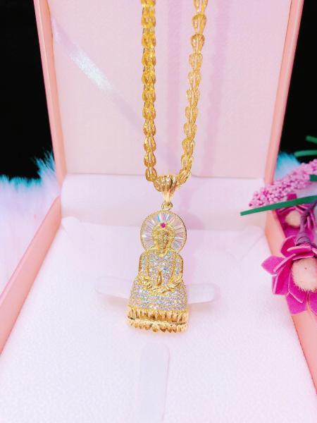 Dây chuyền nữ đẹp vàng, dây chuyền mạ vàng thật cao cấp mặt cherry tú cầu đính đá pha lê sáng siêu lấp lánh lung linh thiết kế tinh tế nữ tính dễ thương Trang sức  Gadoshop VD22101907 - đeo đi đám cưới vô cùng quý phái