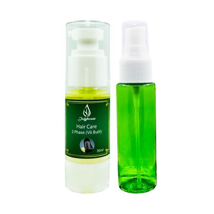 Serum dưỡng tóc 100% thiên nhiên tinh dầu vỏ bưởi (tặng 1 vỏ chai xịt) 30ml JULYHOUSE
