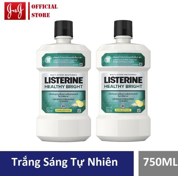 Bộ 2 chai nước súc miệng giúp răng trắng sáng Healthy bright 750ml - 540017258