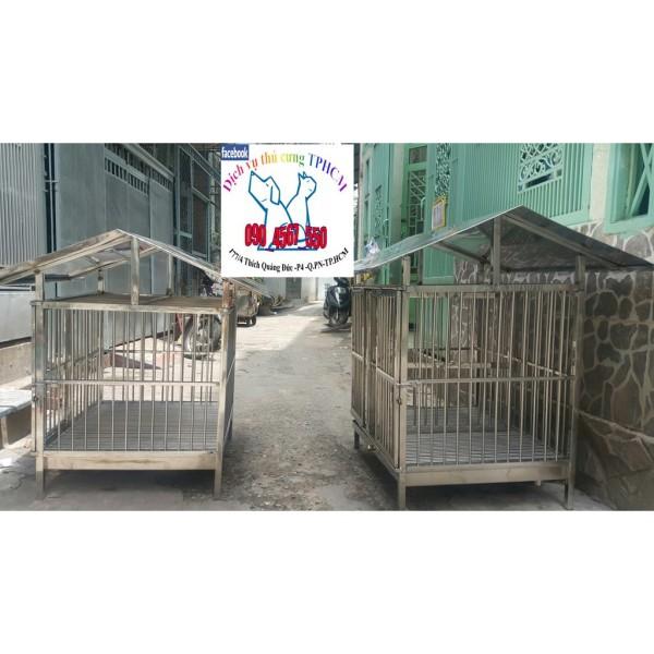 Chuồng Inox + Mái Che Inox cho chó mèo