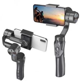 Tay cầm chống rung chụp ảnh selfie tự sướng chống rung tay cầm, 3 chân , gấp gọn, xoay chuyển 360 độ, tương thích với nhiều điện thoại thông minh, kết nối bluetooth tự động xoay thumbnail