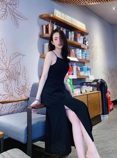 Đầm hai dây,váy 2 dây xẻ tà siêu sang chảnh,tôn dáng - hàng oại 1 Bu Fashion shop