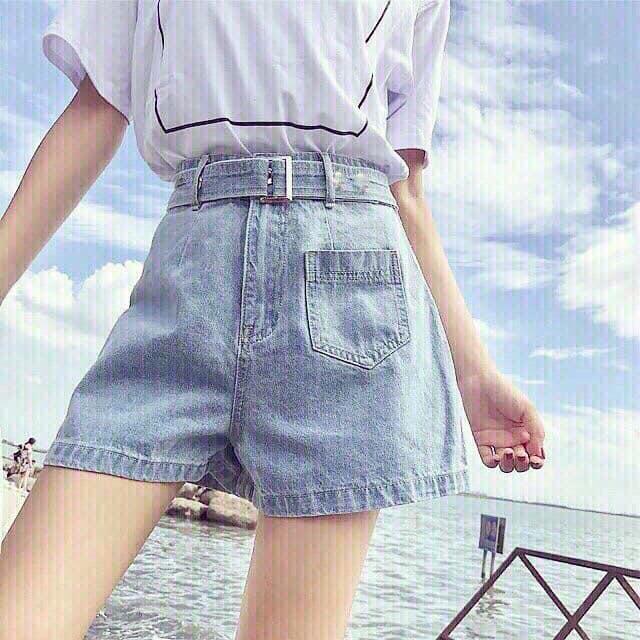 Quần Short Jean Nữ Lưng Cao(hình thật chất bao đẹp)