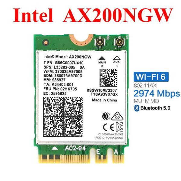 Giá Card WiFi Laptop Intel AX200NGW AX200 khe M2 / NGFF có Bluetooth 5.0