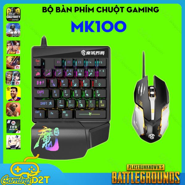 Bảng giá Bộ bàn phím chuột gaming MK100 chơi game PUBG Call of Duty trên các bộ chuyển đổi game Flydigi Q1 Handjoy D4 Rezar P30 Lingzha 2 Phong Vũ