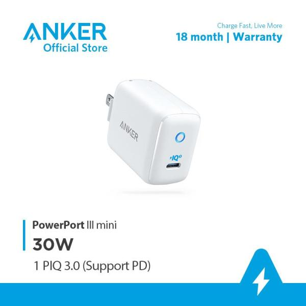 Sạc ANKER PowerPort III mini 1 cổng PIQ 3.0 30W - A2615