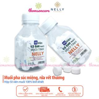 Muối viên tinh khiết NELLY - Hộp 50 viên muối sinh lý An phú, tự pha dùng súc miệng, rửa mũi, vết thương, sát khuẩn thumbnail