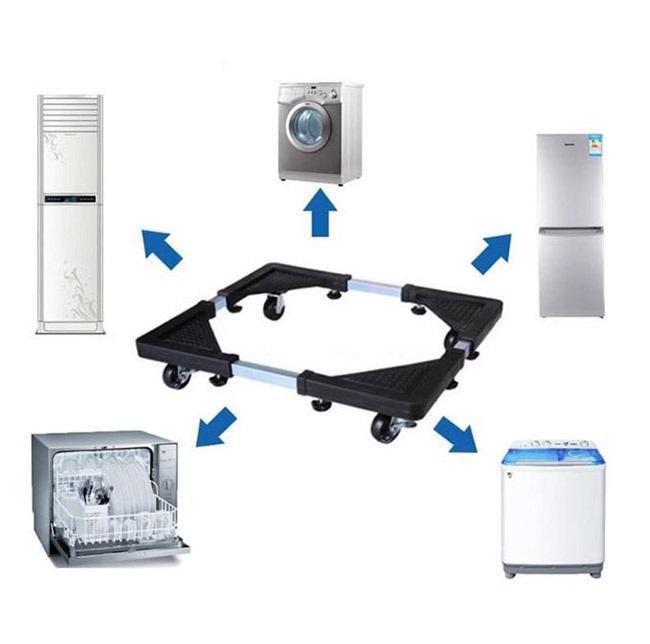 Kệ tủ lạnh, máy giặt đa năng có bánh xe, chân kệ thông minh di chuyển đồ nặng,Giá đỡ, chân kê máy giặt có bánh xe tiện dụng