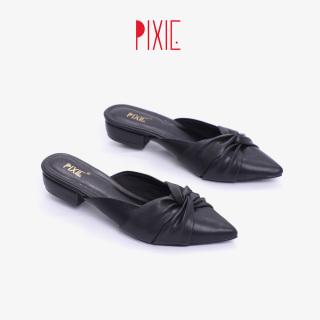 Dép Sục Bệt Mũi Nhọn Nơ Xoắn Pixie X673 thumbnail