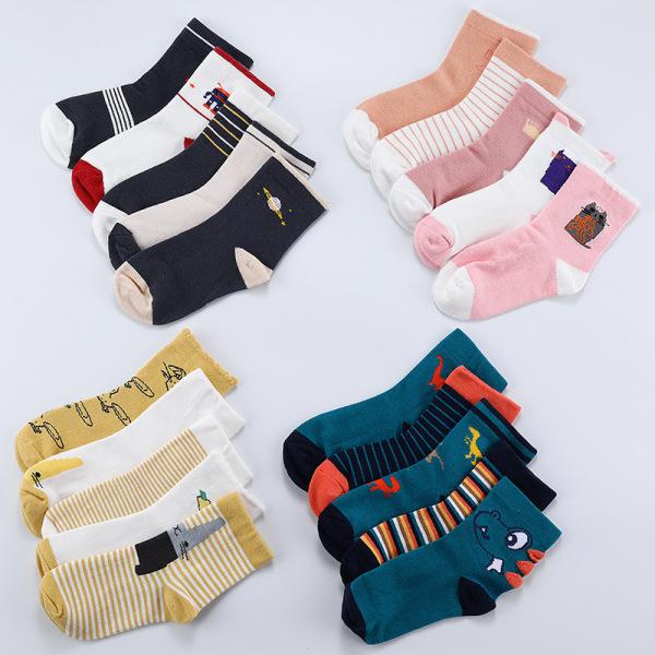 Giá bán Set 5 đôi tất cổ cao thu đông mềm mại và ấm áp cho bé TTE13