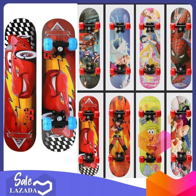 Ván trượt skateboard trẻ em họa tiết hoạt hình đáng yêu cho bé trai và bé gái - thiết kế đúng tiêu chuẩn thi đấu