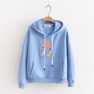 Áo khoác nỉ nữ siêu cute, áo hoodie nữ mẫu mới, áo nỉ hình gấu thả tim 3 thumbnail