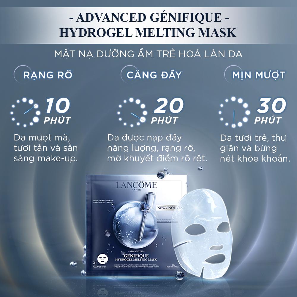 Mặt nạ dưỡng ẩm trẻ hóa da Lancome Advanced Genifique Hydrogel Melting Mask 7 miếng