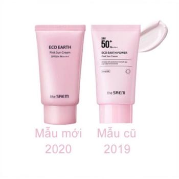 Kem Chống Nắng The Saem Eco Earth Power Pink Sun Cream Spf50+ Pa++++ 50Ml