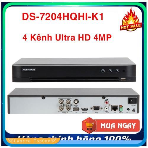 [NHÀ PHÂN PHỐI, BH 2 NĂM, FREESHIP 20K]Đầu ghi hình HD TVI Hikvision 4 kênh DS-7204HQHI-K1 chuẩn H.265+ 7 đánh giá17 câu hỏi đã trả lời