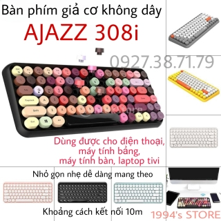 Ajazz 308i - Bàn Phím Giả Cơ Không Dây Bluetooth - Dùng Được Cho Laptop, PC Windows, Mac OS, iOS, Android, iPhone, iPad thumbnail