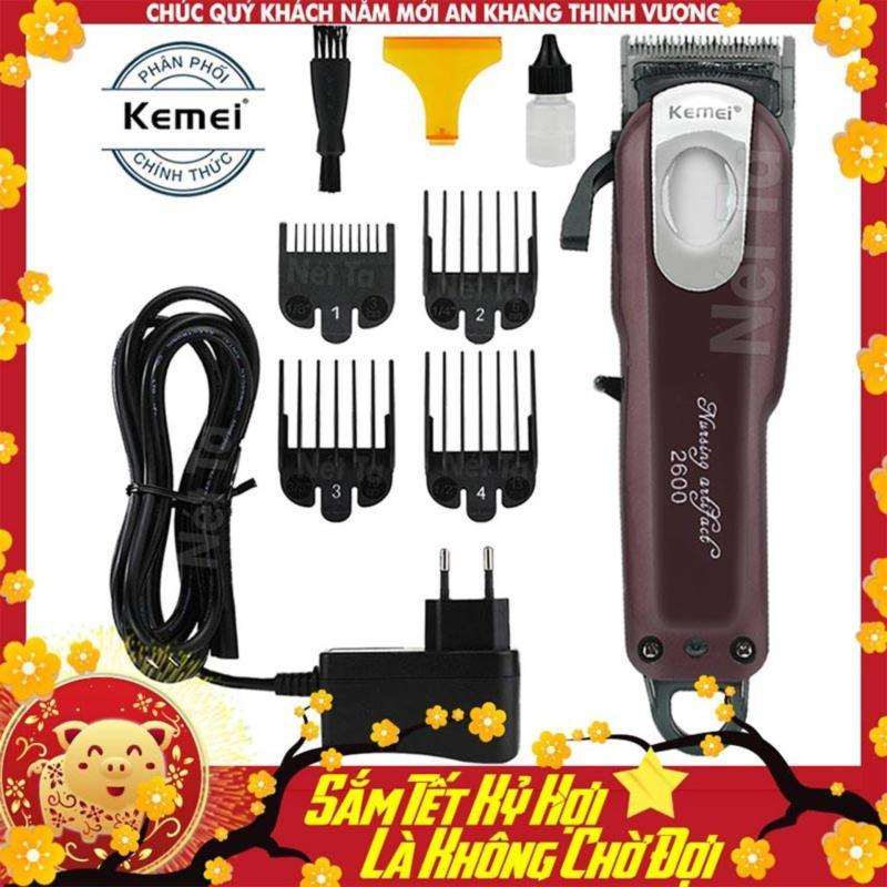 Tông đơ cắt tóc không dây chuyên nghiệp Kemei KM-2600 giá rẻ