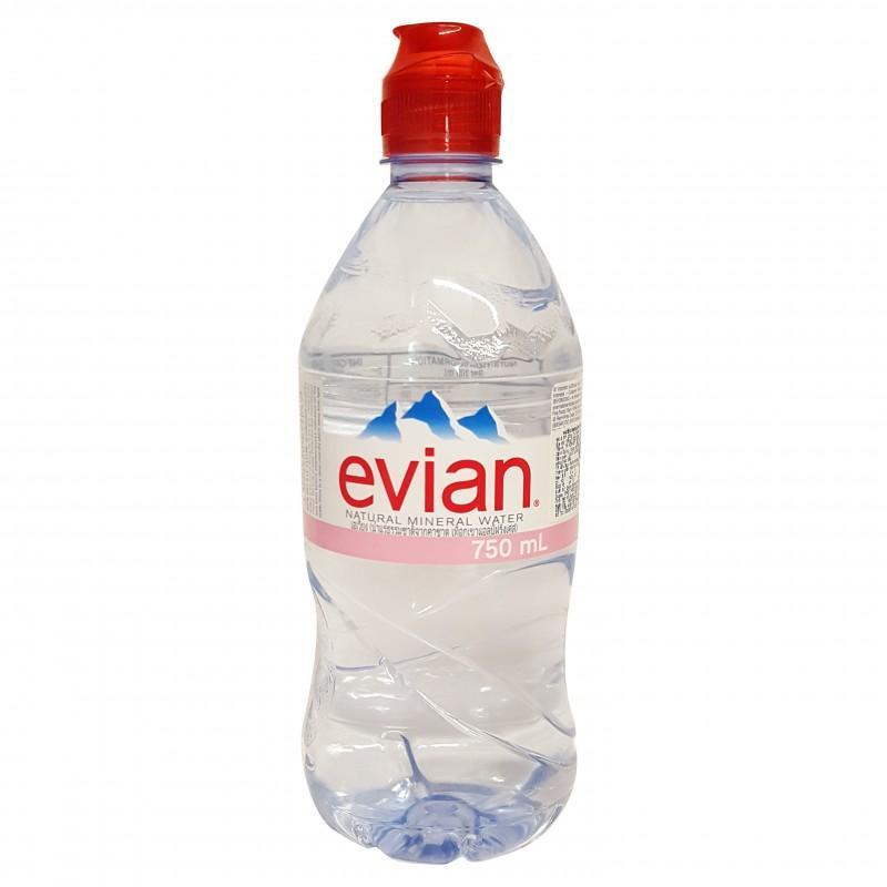 Nước khoáng thiên nhiên Evian chai 750ml