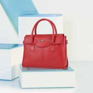 Túi xách tay nữ công sở nắp gập IDIGO FB2-5020-00 thumbnail