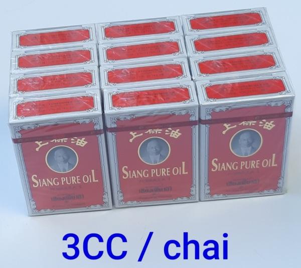 Combo 12 Dầu Thái lan Siang Pure Oil 0.5ml chữ màu vàng – Thái Lan