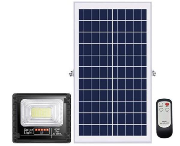 Bảng giá Đèn pha LED năng lượng mặt trời 60W JINDIAN JD-8860L Solar Light - Điện Việt