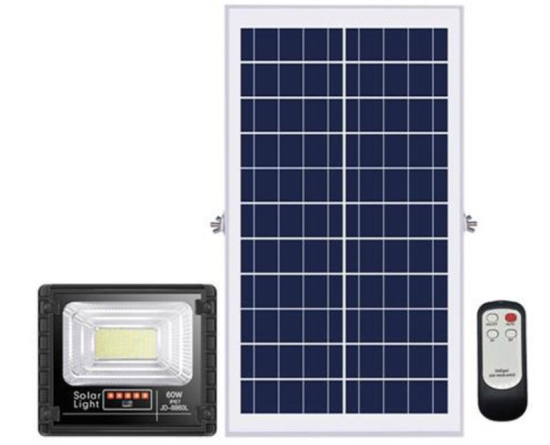 Đèn pha LED năng lượng mặt trời 60W JINDIAN JD-8860L Solar Light - Điện Việt