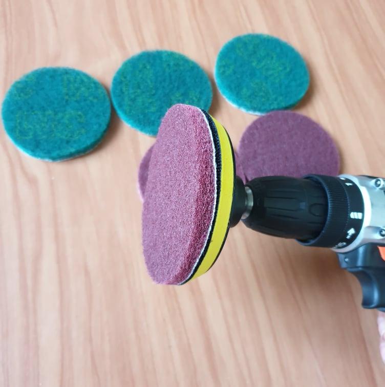 Dụng đánh bóng làm sạch oto xe máy điều hòa lắp vừa cho máy khoan và máy mài góc