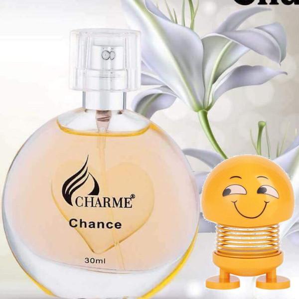 Nước hoa Charme Chance 30ml -Tặng Kèm Thú Nhún Mặt Cười Siêu Dễ Thương
