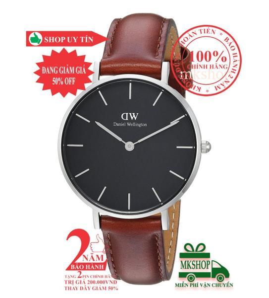 Đồng hồ nữ D.W Classic Petite St Mawes- 32mm- Màu Bạc (Silver), mặt đen(Black) DW00100181