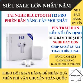 Tai Nghe Bluetooth Không Dây i12 Pro Bản Nâng Cấp Chip 5.0, Micro 2 Bên, Âm Vòm 9D - Tai Nghe Bluetooth Không Dây Mini, Tai Nghe Không Dây Giá Rẻ Tai Nghe Bluetooth Giá Rẻ thumbnail