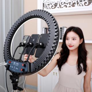 [ Mẫu Mới Nhất 2020 ] Sát Thủ Livestream ,Thiết Bị Ánh Sáng Studio , Makeup, Chụp Ảnh 45cm ( Tặng 3 Kẹp Điện Thoại ) Đèn LED Ring RL-18 Size 45CM - Trang Điểm - Spa - Size Lớn Cao Cấp Giá Rẻ , Đèn Xoay 360 Độ Tùy Chỉnh Mức Sáng thumbnail