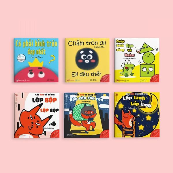 Mua Combo 2 bộ Ehon Hình khối và Âm thanh - Cho bé 0-6 tuổi thông minh và sáng tạo / Tặng cuốn Những Câu Chuyện Kinh Điển