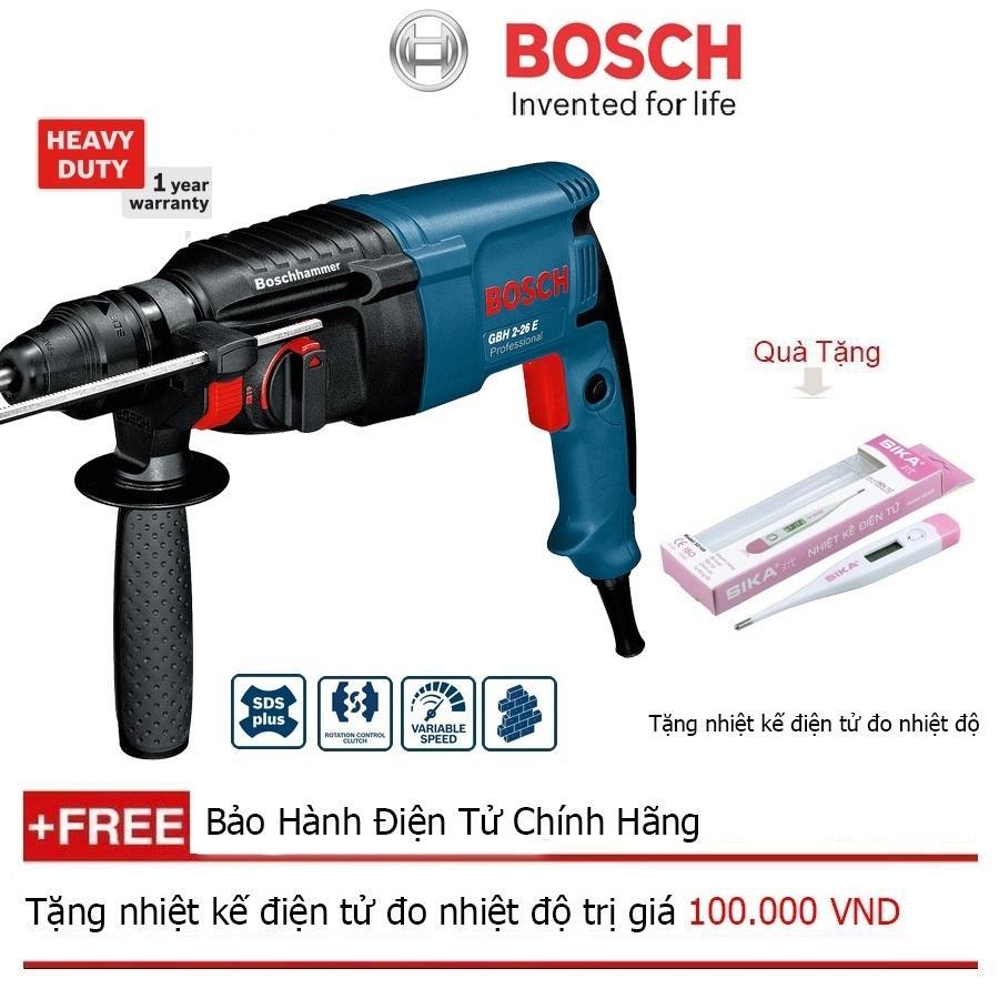 Máy khoan búa Bosch GBH 2-26 E + Quà tặng nhiệt kế điện tử