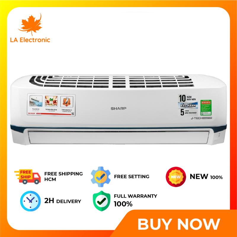 Trả Góp 0% - Máy Lạnh Sharp 2.0Hp Inverter AH-X18XEW MÃU 2020 - Bảo hành 12 tháng - Miễn phí vận chuyển HCM