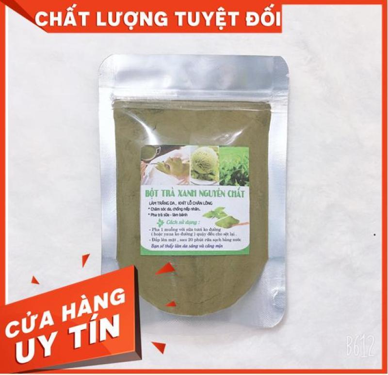 Bột trà xanh đắp mặt nguyên chất -T.r.i Mụn trắng da 100Gr nhập khẩu
