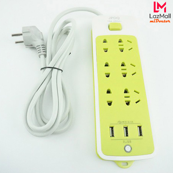 [Hàng Cao Cấp] Ổ Cắm Điện Đa Năng Chống Giật Với 3 Cổng USB – Sạc Trực Tiếp – Tiết Kiệm Điện - Ổ Cắm Điện Xanh Lá – Hãng miDoctor giá rẻ