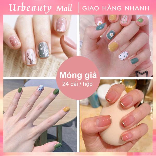 【Urbeauty Mall】Hộp 24 Móng tay giả (Chứa keo),Năm phong cách chọn móng tay giả, nail giả , móng giả A8 ( Sản phẩm đã có sẳn keo ) giá rẻ